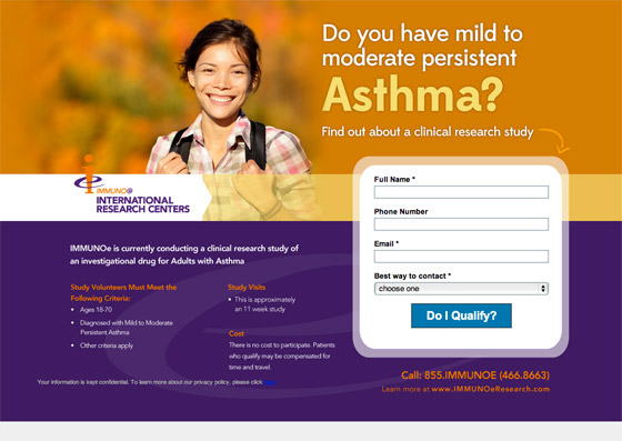 asthma landing page