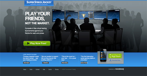 superstock jockey landing page example
