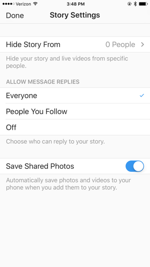 Check your Instagram Story settings before you go live.