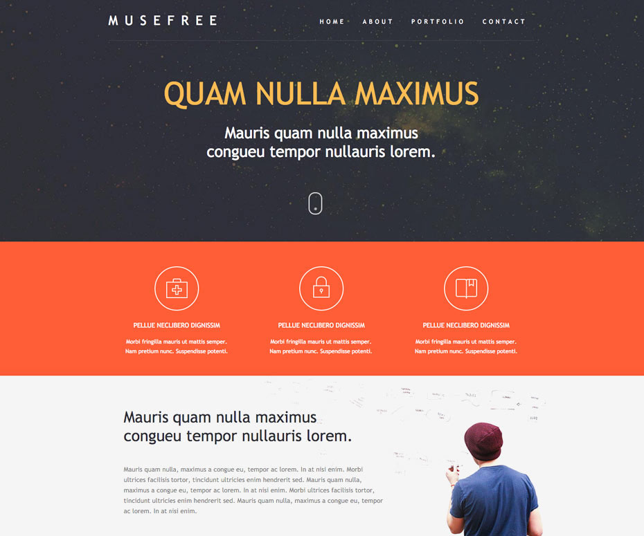 Adobe Muse Free Theme