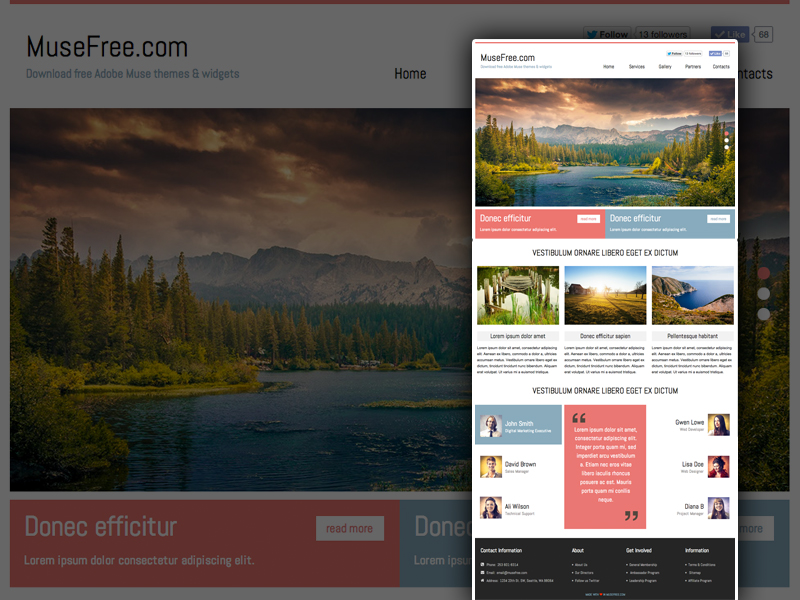 Download Adobe Muse Business Template
