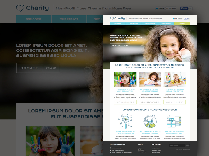 Download Muse NonProfit Theme