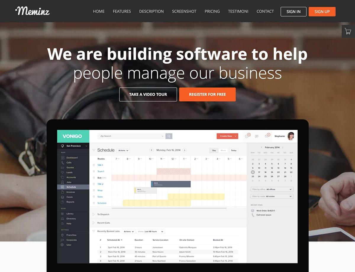 meminz-программно-целевая страница-тема