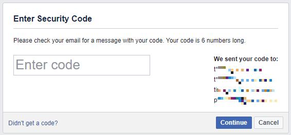 Как восстановить свою учетную запись Facebook, когда вы больше не можете войти в систему Facebook Код безопасности 1