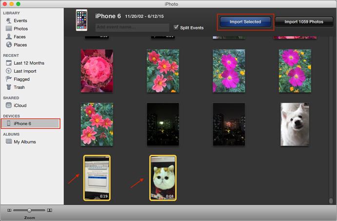 Передача видео с iPhone 6 / 6s на компьютер с iPhoto
