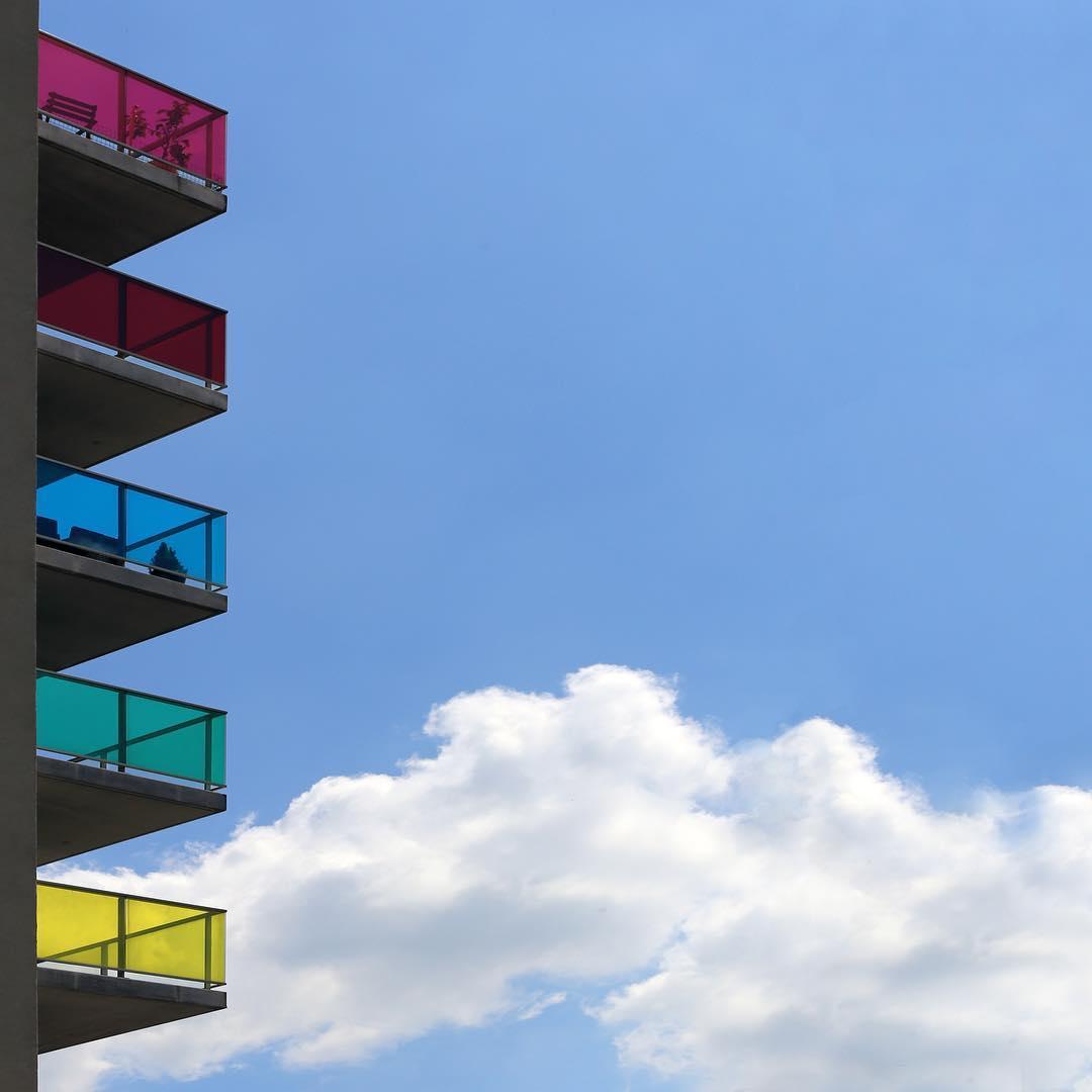 Summer Balconies . #Brussels #SeeMyCity #Architecture #Minimal