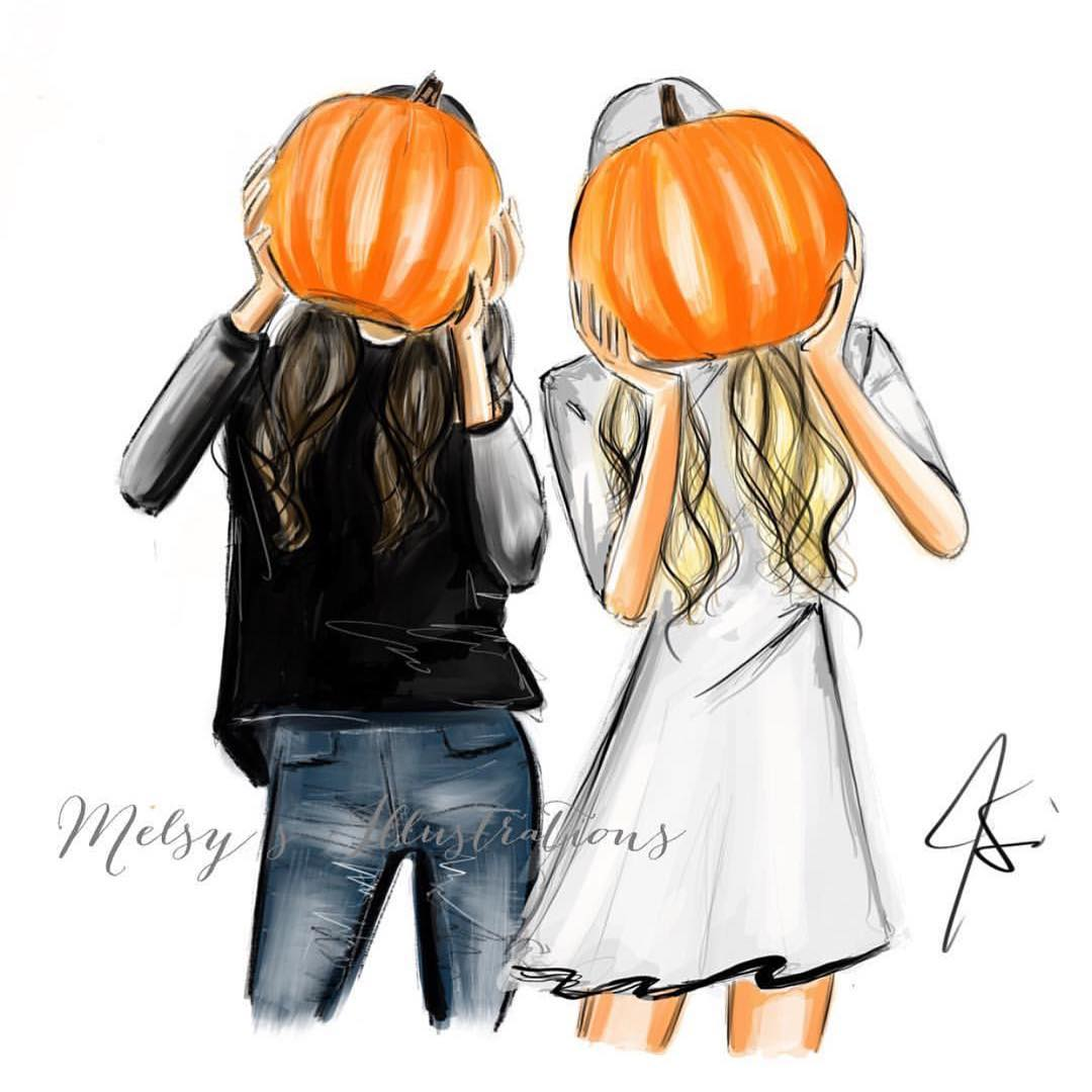 Tag your pumpkin pals!Shop prints online or in person at @artistsandfleas in Chelsea Market starting tomorrow through September 24th daily from 10-9pm!  #melsysillustrations #afchelsea #art #pumpkin #pumpkinspice #fall #fallandfriends #friends