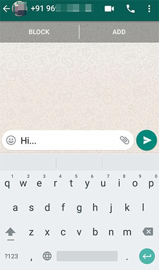 Чат WhatsApp, содержащий сообщение