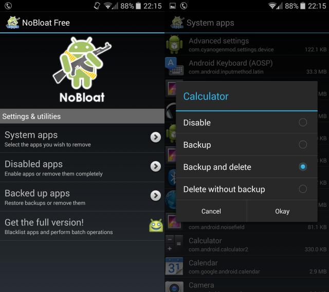 Ий-андроид-Удаление приложение-nobloat