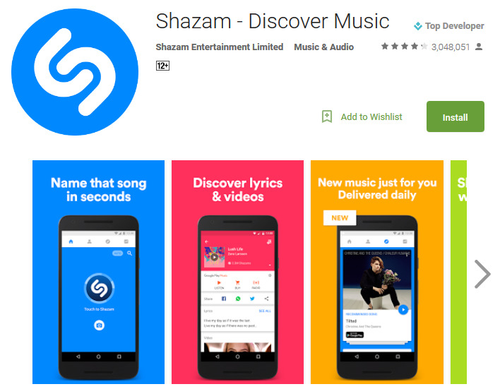 Shazam Discover Music